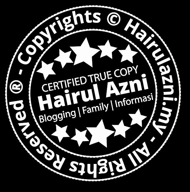 """""""Tetanda air"""" untuk blog Saudara Hairul Azni"""